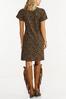 Plus Size Leopard Flutter Sleeve Dress alternate view