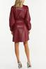 Faux Leather Shirt Dress alternate view