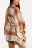 Plaid Belted Poncho alternate view