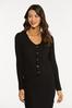 Ribbed Button Front Sweater alt view