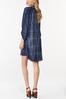 Plus Size Ombre Plaid Shirt Dress alternate view