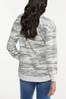 Plus Size Distressed Camo Sweatshirt alternate view