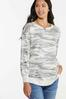 Plus Size Distressed Camo Sweatshirt alt view