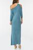 Plus Size Asymmetrical Cold Shoulder Dress alternate view