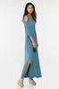 Plus Size Asymmetrical Cold Shoulder Dress alt view