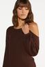 Plus Size Ribbed Cutout Shoulder Sweater alt view