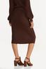 Plus Size Ribbed Sweater Skirt alternate view