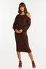 Plus Size Ribbed Sweater Skirt alt view