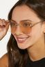 Gold Rimless Sunglasses alternate view