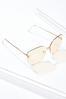 Gold Rimless Sunglasses alt view