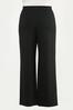 Plus Size Tie Waist Ponte Pants alternate view