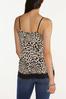 Plus Size Leopard Lace Trim Cami alternate view