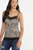 Plus Size Leopard Lace Trim Cami alt view