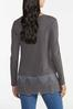 Plus Size Thermal Lace Trim Top alternate view