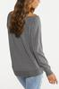 Plus Size Slouch Football Sweatshirt alternate view
