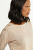 Plus Size Oatmeal Ribbed Top alt view