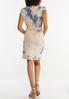 Padded Shoulder Tie Dye Dress alternate view