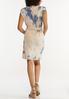 Plus Size Padded Shoulder Tie Dye Dress alternate view