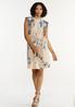 Plus Size Padded Shoulder Tie Dye Dress alt view