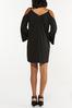 Plus Size Cold Shoulder Swing Dress alternate view
