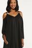 Plus Size Cold Shoulder Swing Dress alt view