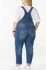 Plus Size Distressed Overalls alternate view