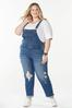 Plus Size Distressed Overalls alt view