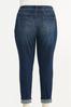 Plus Size Distressed Leopard Patch Jeans alternate view
