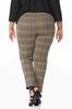 Plus Size Plaid Pants alternate view