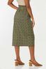 Plus Size Ruffled Plaid Pencil Skirt alternate view