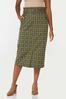 Plus Size Ruffled Plaid Pencil Skirt alt view