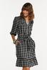 Checkered Tie Waist Dress alt view