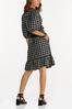 Plus Size Checkered Tie Waist Dress alternate view