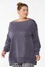 Plus Size Slouch Oversized Sweatshirt alt view