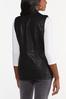 Plus Size Faux Leather Vest alternate view
