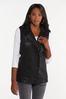 Plus Size Faux Leather Vest alt view