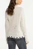 Plus Size Distressed Cold Shoulder Sweater alternate view