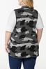 Plus Size Camo Sweater Vest alternate view