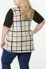 Plus Size Jacquard Plaid Vest alternate view