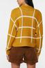 Plus Size Golden Check Cardigan Sweater alternate view