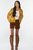 Plus Size Golden Check Cardigan Sweater alt view