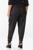 Plus Size Drawstring Coated Joggers alternate view