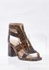 Leopard T- Strap Heeled Sandals alternate view