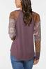 Plus Size Textured Patchwork Sleeve Top alternate view