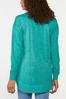 Plus Size Teal Sweatshirt Tunic alternate view