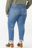 Plus Size Camo Rip Repair Boyfriend Jeans alternate view