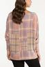 Plus Size Slouch Pink Plaid Top alternate view