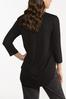 Plus Size Solid V- Neck Top alternate view
