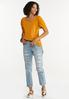 Cinched Sleeve Top alt view