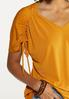 Plus Size Cinched Sleeve Top alt view